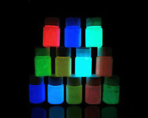 Glow in the Dark Paint - set of 6 colours in total