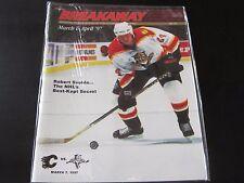 Florida Panthers Program 3/7/97 vs Calgary Flames Robert Svehla