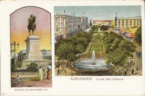 Alexandria, EGYPT - Place des Consuls & Statute of Mohamed Ali - MULTIVIEW