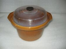 HTF Vintage Rival 6 Quart Crock Pot Removable Insert with Plastic Lid 3654 3656