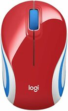 Logitech M187 Wireless Mini Mouse Pocket Sized Portable Mouse for Laptops Red