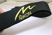 "Op/Tech USA Neoprene Neck Shoulder Strap ""for Nikon""  camera black yellow"