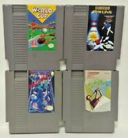 Nintendo NES Game Lot Tested Authentic World Cup Bowling Bandai Golf Rollerball