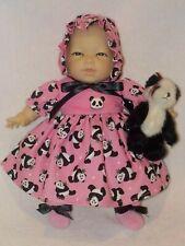 """11"""" Oriental Baby Doll By Berenguer W/Panda Bear Dress"""
