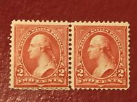 US SCOTT Cat # 266-267 MHR OG Type II&III WASHINGTON 2c Stamps FREE S&H Perf Sep