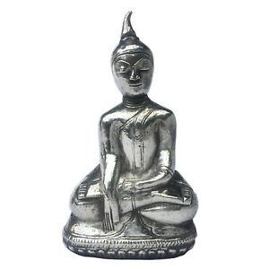 Small Burmese silver Buddha figure late 19th century
