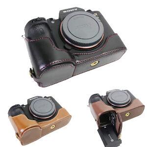 PU Leather Camera Half Case Bottom OCover For Sony ILCE-9 A9 A7RIII A7III A7R3