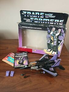 Vintage Original G1 Transformers Skywarp Boxed Hasbro Takara