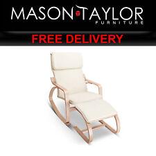 Mason Taylor Birch Plywood Lounge Rocking Chair w Foot Stool ARMCHAIR-STOOL-BG