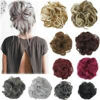 Synthetic Wavy Hair Bun Messy Curly Elastic Scrunchie Wrap Ponytail Extensions