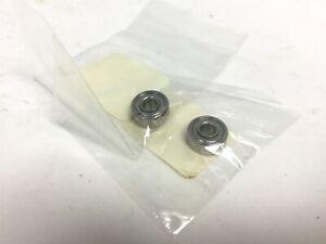 """Lot of 2 New NMB SRW3ZZ Miniature Instrument Ball Bearing, SS, ID 3/16"""""""
