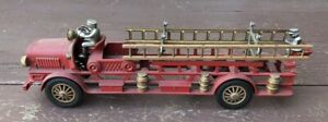 """Vintage Toy Hubley Fire Dept. Ladders Truck, Toy Vehicle, 20"""", early Piece"""