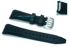 Cinturino orologio in gomma nero ansa rinforzata 22mm tipo nautica silicone rn22