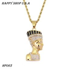 Hip Hop Jewelry Stainless Steel Egyptian pharaoh Pendant Necklace