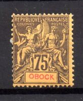French Colonies Obock 1892 75c mint MH WS21604