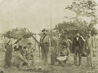 Confederate soldiers cooking in camp Pensacola Florida 8x10 US Civil War Photo