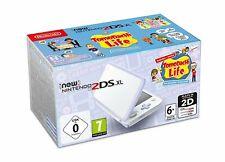NEW Nintendo 2DS XL White + Lavender incl Tomodachi Life