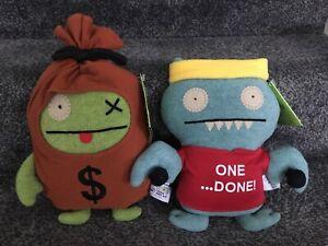 Gotta Getta Gund Uglydolls Bundle Of 2 Money Bags Ox Ice Bat Plush Soft Toys