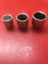 Jonnesway 3/4� drive 1-1/2�,1-3/4�,& 2� sockets (lot of 3)