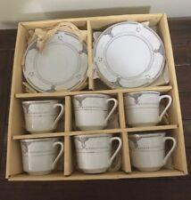 "Tea Cups Sauces Plates 18 Piece Ambassador ""Lara"" Japan Like New In The Box"