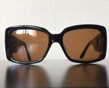 Kieselstein Cord AVA Sunglasses In Foxy Brown Lens Black Frame Chrome Hearts