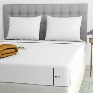 Fitted Bed Sheet T180 Thread Count Percale Single, 4FT, Double, King, S King