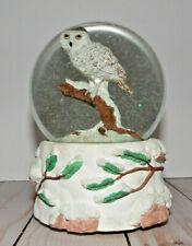 San Francisco Music Box Company Snowy Owl Snow Globe 1995 Plays Born Free
