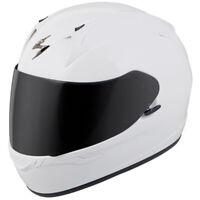 Scorpion EXO-R320 Full Face Motorcycle Helmet Gloss White Size Medium NEW