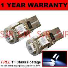 W5W T10 501 CANBUS NESSUN ERRORE XENO BIANCO 5 LED LATO FRECCE LAMPADINE x 2