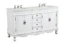 """64"""" Antique White Beckham Bathroom Sink vanity Cabinet CF-3882W-AW-64"""