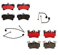 Front Rear Brembo Ceramic Brake Pads Set Sensors Kit For Porsche Panamera S 4S
