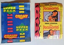 Upper Deck Cromy Printed In Argentina rare Disney Pocahontas 1995 sticker pack