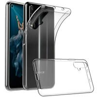 Case For Huawei Nova 5T, Black, Clear Silicone Gel Rubber Phone Case Cover