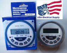 TM-619-1 Multipurpose  Programmable Digital Timer With Remove Battery Inp:120V