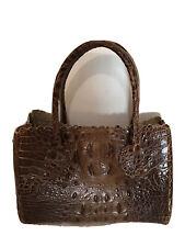 Furla Croc Handbag Brown Small
