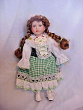 Musical St. Patricks Porcelain Doll Green Dress With Shamrocks # 3394