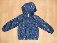 Boys Vertbaudet hooded pack-away jacket in navy pirates themed print, 3-4 yrs
