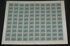 ICELAND #227 (251) 50aur Fish, Complete sheet of 100, og, NH, VF, Facit $205.00