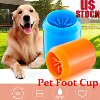 S-L Useful Dog Paw Cleaner Cleaning Brush Cup Pet Foot Cleaner Feet Washers
