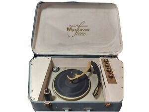Vintage MAGNAVOX Stereo Record Player Portable All-Transistor England Made