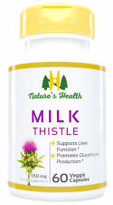 Milk Thistle Seed, Standardized 80% Silymarin, 550 Mg, 60 Veggie Capsules