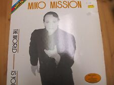 """BU 0039 ITALY 12"""" 45RPM 1984 MIKO MISSION """"THE WORLD IS YOU"""""""