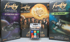 Firefly the Board Game Expansions: Kalidasa, Jetwash, Esmeralda & Ship Dice