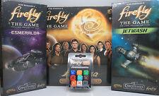 Firefly the Board Game Expansions: Kalidasa, Jetwash, Esmeralda & Ship Dice