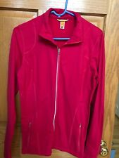 woman's Lucy Full Zip red yoga/ running jacket size medium nwot