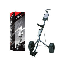 "AGXGOLF ""GLIDE EASY FOLD"" GOLF PULL CART wSCORE PAD & REMOVABLE WHEELS"