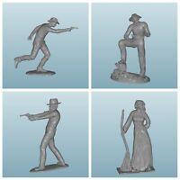 cowboy serie 7 cm kompatibel elastolin unbemalt (4 st)