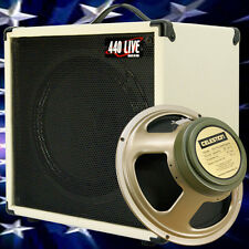 1x12 Guitar Speaker Extension Cab W 8 Ohm CELESTION Greenback White tolex BF
