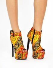 ASOS Print Aztec Platform Ankle Boots *Size 6*