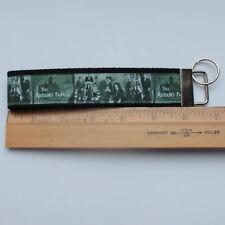 Addams Family Grosgrain Ribbon Webbing Keychain Wristlet Key Fob 6 inch